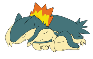 AT - Sleeping Cyndaquil and Typhlosion by PokemonBWishesCilan