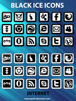 Black Ice Icons - Internet by musicopath