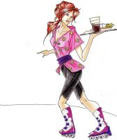 Waitress on Rollers by lauralaima