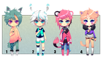 Kemonomimi Male Adoptables [CLOSED] by Andreia-Chan