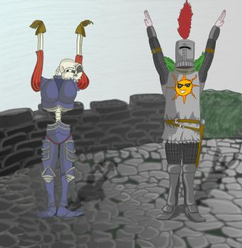 How is it done ? -- Sir Daniel and Solaire by LogicalMarcochip