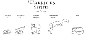Free Warriors Cats Sprites by Tesseri-Shira
