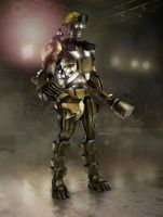 Minerbot concept for Real Steel by anihausdrew