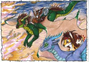 Flight with the sky guardians by Suane
