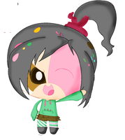 Puffed Vanellope by rrosey89