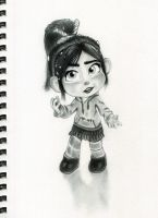 Vanellope - Fat Folds in Your Neck! by artistsncoffeeshops