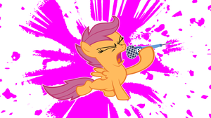 Scootaloo Singin'-background 3 by MoongazePonies