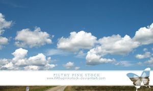 Stock - Blue Sky Ovr Moor Road by FilthyPinkStock