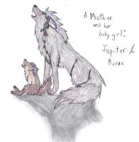 Jupiter and her baby girl by shiro-chan63