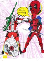 Deadpool vs Deadshot by gagex07
