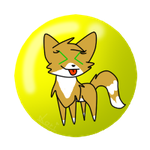 Funny Button: Goldenfoxy by catlori9