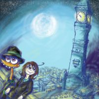 In the Light of the Clock Tower - Betty and Bud by Gemini-Mystica