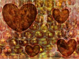 HoneyComb Almond Hearts by psycozugninga