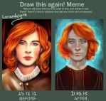 Before and After Redhead boy by LoranDeSore