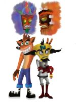Crash and Cortex by allanimerules1