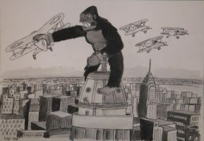 King Kong - The Great Empire State Battle by LewisDaviesPictures