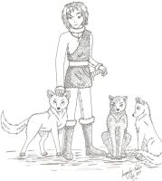 Ronon and His Wolves by jacquelynfisher