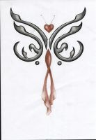Love butterfly tattoo design by ReedmooleyTattoos