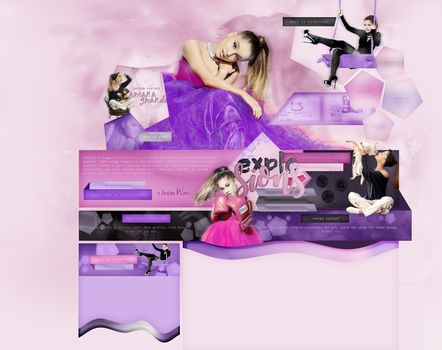 EXPLOSIONS DESIGN #003   FEATURE ARIANA GRAMDE by weniexplosions