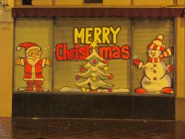 Merry Christmas - store window by Bauvy