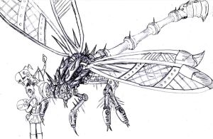 Robot DragonFly by narni