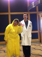 FluffyThePikachu and an Umbrella Scientist FROM RE by WolfKnox