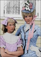 Nancy and Nellie Oleson by madamescandaleuse