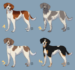 Cheap Adopts: Semi-realistic Gundogs [2/4 open] by theclevercarrot