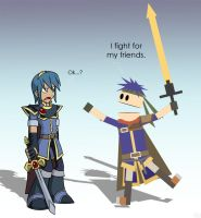 Marth and Ike by NinaUsagi