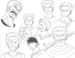 Zoro Expressions - Pencils by Andrea--P