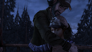 Clementine hug Kenny by Gamesandanimations