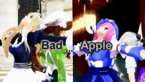 [MMD] Bad Apple DL Edit Motion Ver.3 by HestiaSama
