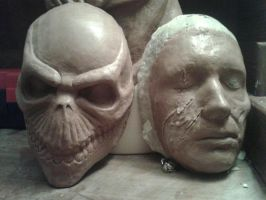lordi oz sculpt and a corpse sculpt by monkeythe13th