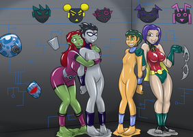 Chip Titans - Over[cyborg]Load's new recruits by Gojiro7