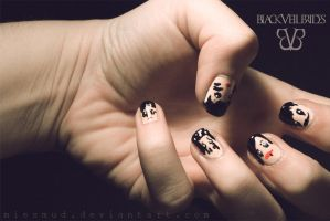 Black Veil Brides nails by miesmud
