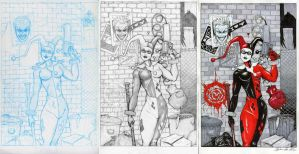 Harley Quinn Progression by Cauldron03