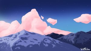 Snowy Mountains (Colour variant) by NuclearJackal