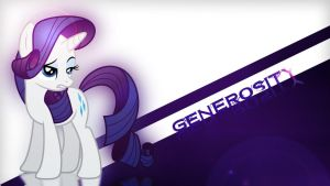 Rarity,The Generosity - Wallpaper by Amoagtasaloquendo