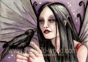 Dark Faery 4 ACEO by WildWoodArtsCo