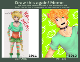 Before and After Meme-Kenji by RollingGirl3