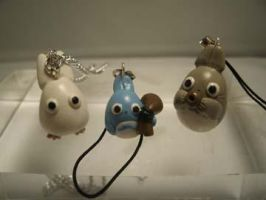 Totoro Necklace n' Phone Charm by Pandarat