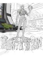 Jane Shepard Monument WIP by SKJeter