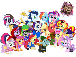 My Little Pony/Ever After High Cosplay Group Photo by ThunderFists1988