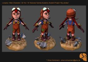 Sky Pirates main character Lowpoly by Pix-man