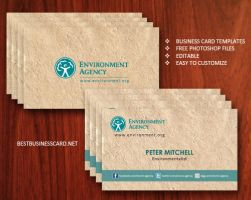 Free Eco-Friendly Business Card Template in PSD by fiftyfivepixels