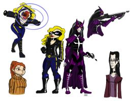 Birds of Prey costume redesigns by TheNoirGuy