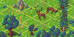 Stags isometric mockup by fusecore