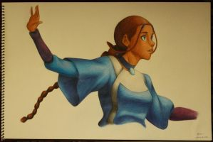 Katara of the Water Tribe by xelartworks