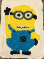 Minion Birthday Cake by jesspotter