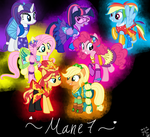 MLP Ponification Transformation mane 7 by YulianaPie26